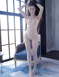 Watch as this cute and sexy skinny girl goes all nude and show every inch of her perfect angel like body.